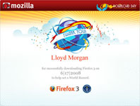 Firefox 3 Download Certificate